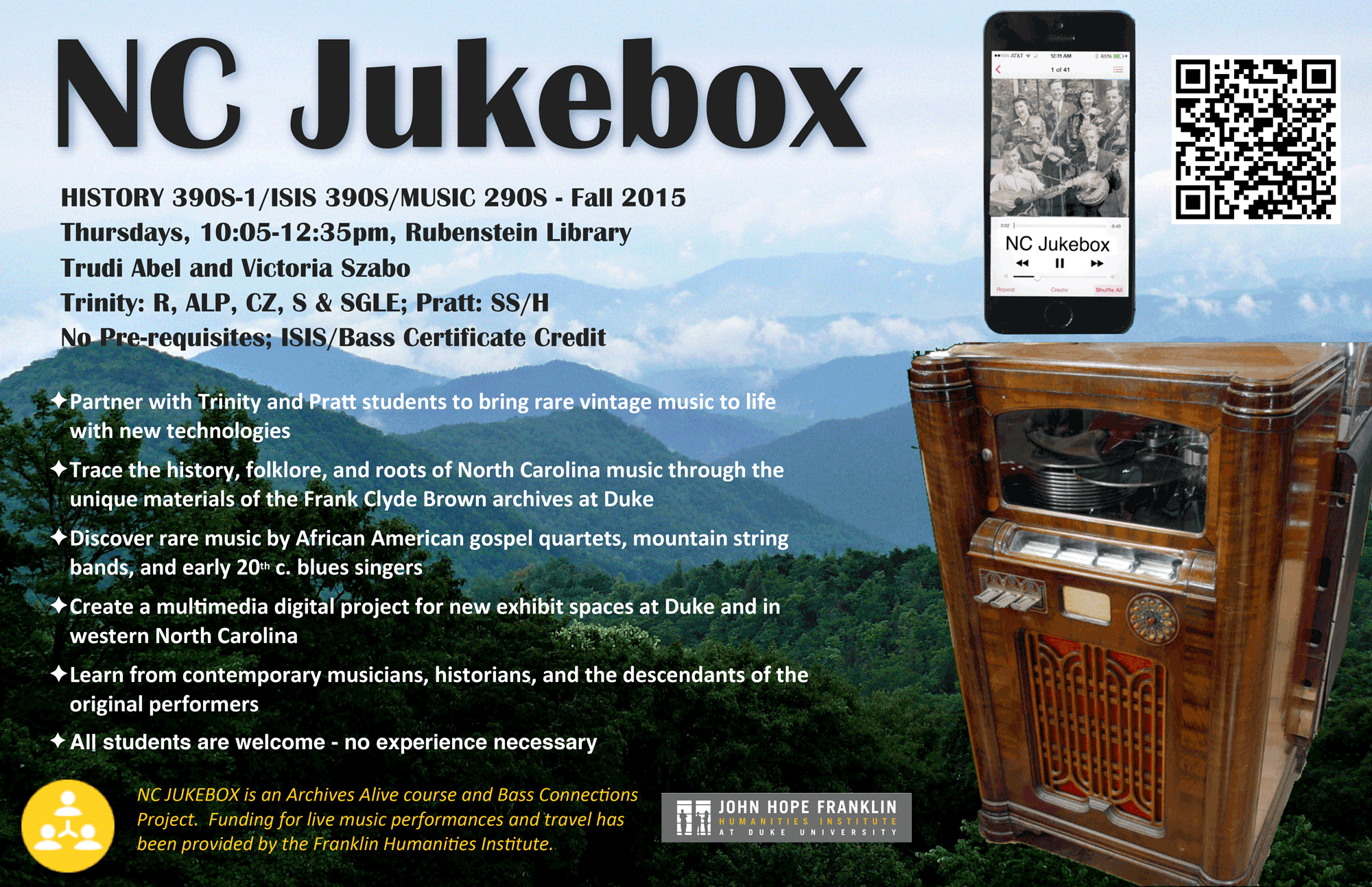 Figure 1. NC Jukebox Project Advertisement